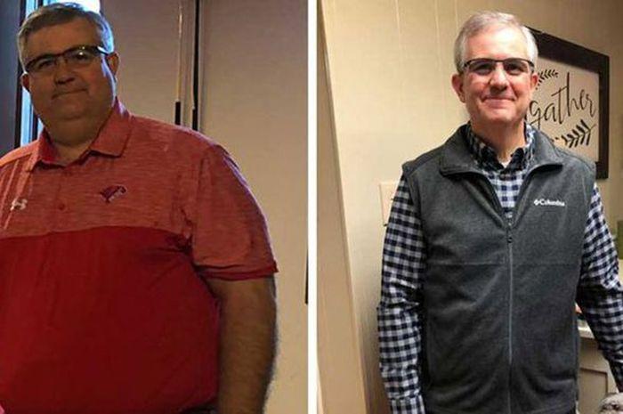 David Young mampu membuat berat badannya turun sebanyak 47kg dalam waktu 10 bulan dengan empat kebiasannya.