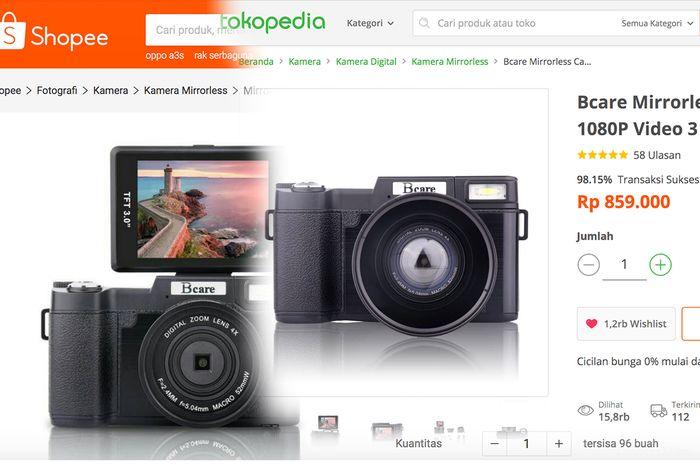 Kamera Mirrorless Ini Cuma Rp 800 Ribuan Cukup Buat Ngevlog