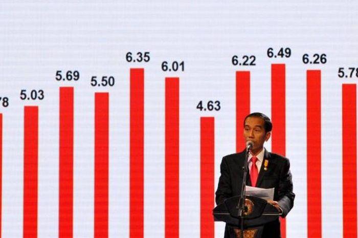 Presiden Joko Widodo memberikan gambaran makro ekonomi Indonesia dalam silaturahmi dengan dunia usah
