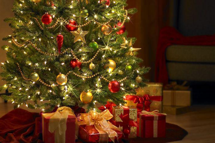 Dekorasi Natal di rumah.