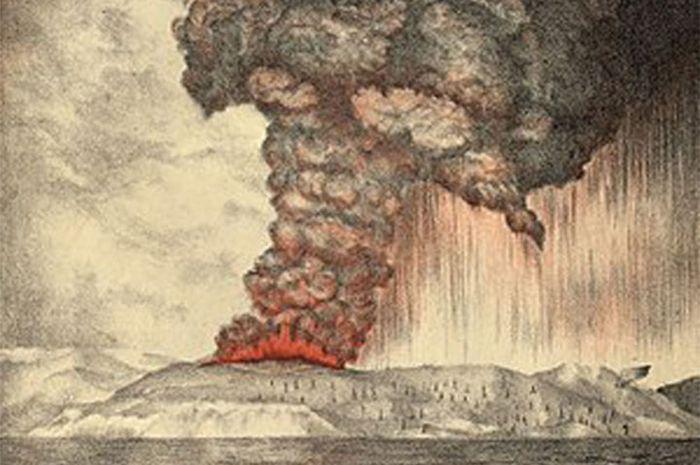 Letusan Gunung Krakatau.