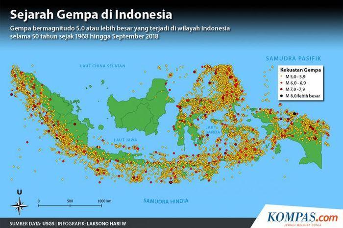 Prediksi bencana di Indonesia oleh BNPB pada 2019.