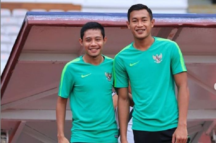 Evan Dimas Darmono (kiri) dan Hansamu Yama Pranata (Kanan).