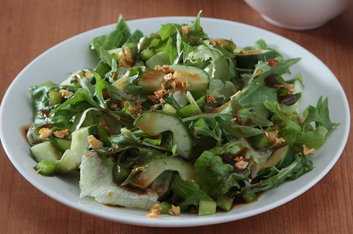Resep Membuat Green Salad With Balsamic Garlic
