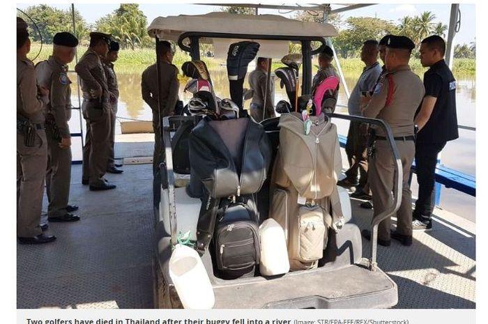 Dua pemain golf bernama Sung Jun-yong dan Ha Jae-oong tewas mengenaskan setelah tenggalam di sungai di Thailand.