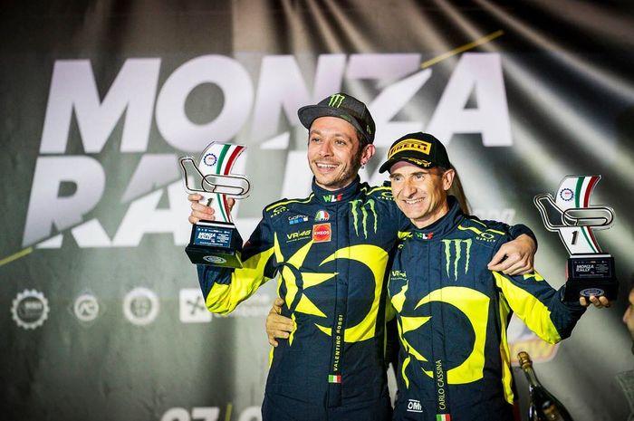 Valention Rossi juarai Monza Rally Show 2018