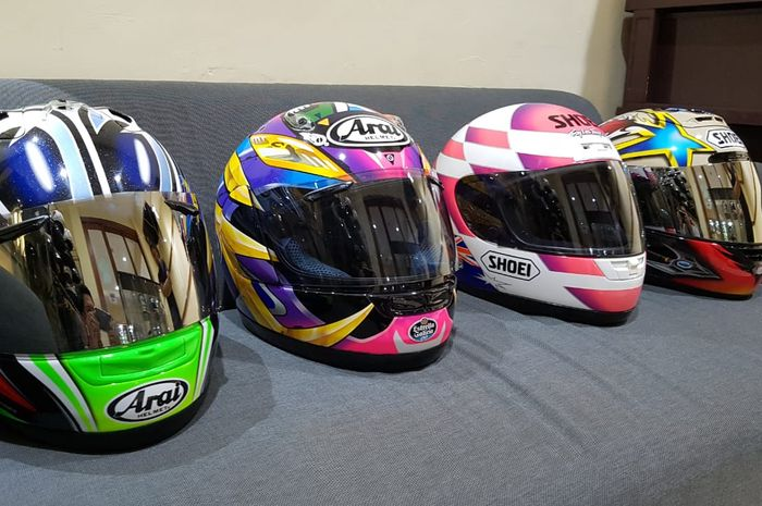 Koleksi helm branded lawas Arf Performance