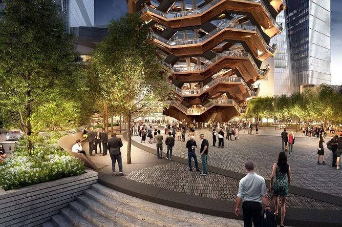 Vessel, bangunan yang menyerupai sarang lebah yang berada di Manhattan, New York
