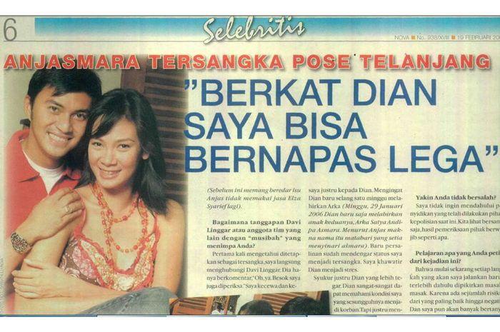 Artikel Anjasmara di Tabloid Nova