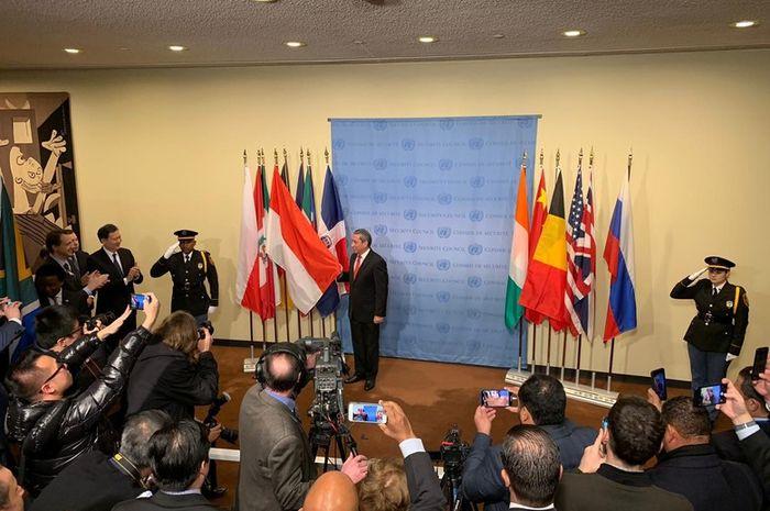 Dok. PTRI New York Indonesia resmi menjadi anggota tidak tetap Dewan Keamanan PBB