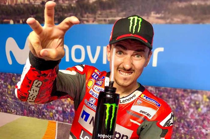 Jorge Lorenzo disponsori Monster Energy saat di tim Ducati