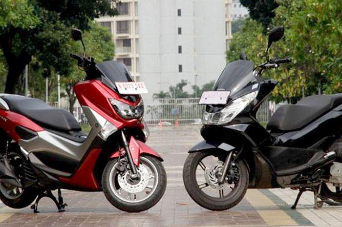 Yamaha NMAX (ki) dan Honda PCX (ka)