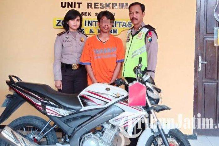 Pelaku pencurian  motor ditangkap di gang buntu