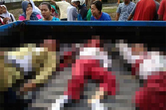 Korban meninggal karena truk ugal-ugalan di Jalan Padat Karya I, Kumai, Kabupaten Kotawaringin Barat