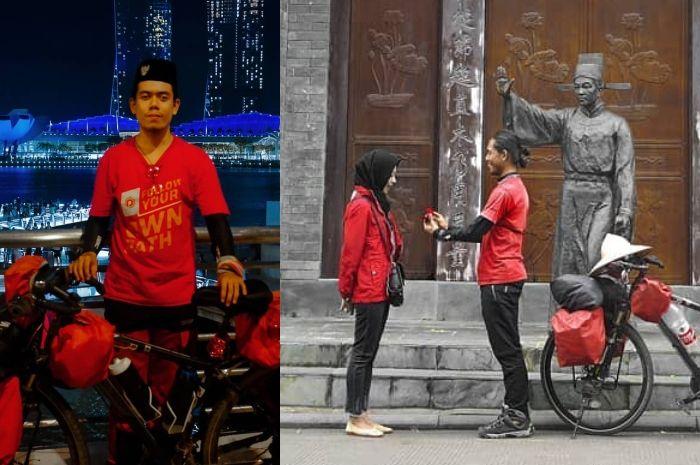 Kisah Luthfi Maizakusuma, Pemuda Sambas yang Bersepeda ke Tiongkok Demi Melamar sang Kekasih