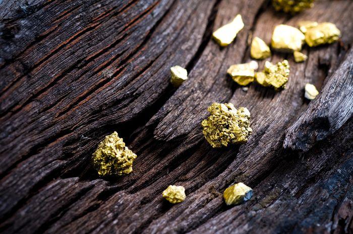 Biji emas, atau nugget.