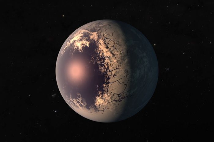 Ilustrasi Planet Bola Mata.
