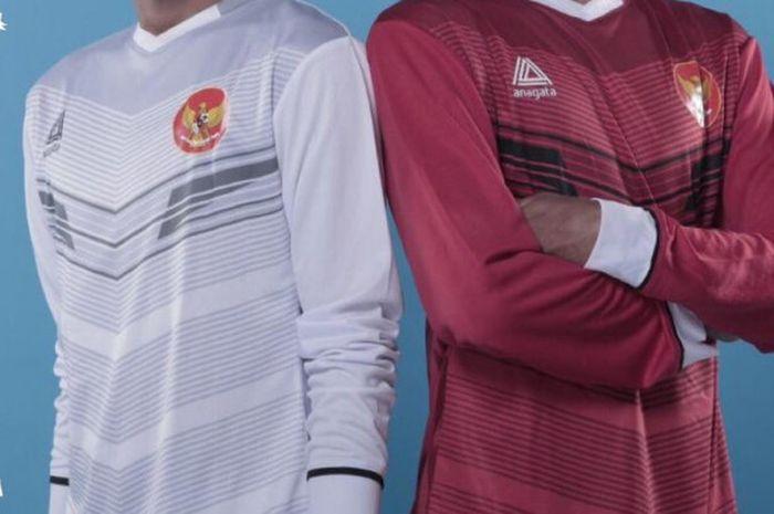 Bocoran jersey timnas Indonesia yang diunggah oleh akun twitter PSSI pada Sabtu (5/1/2019) malam WIB.