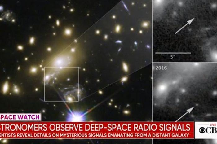 Sinyal radio yang berasal dari kosmos.