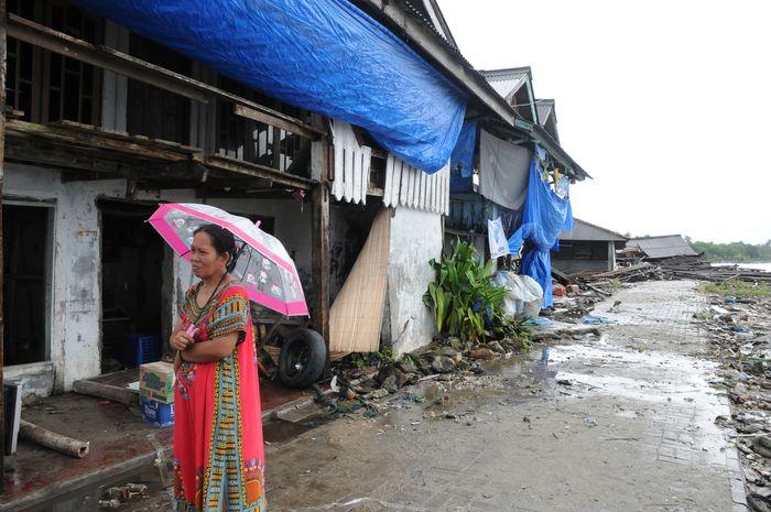 Korban selamat tsunami Banten.