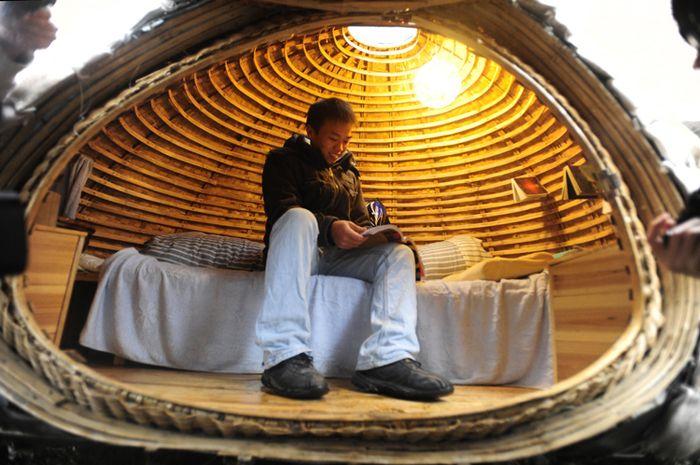 Dai Hafei, pemuda Tiongkok yang tinggal di rumah berbentuk telur