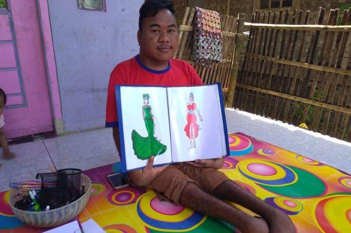 Rahmat, pria difabel yang mendesain batik khusus Jokowi
