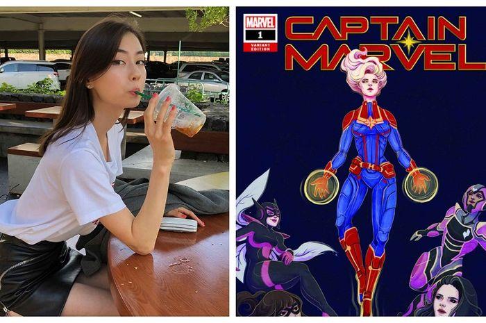 Lauren Tsai Bikin Varian Cover untuk Komik Terbaru 'Captain Marvel #1'