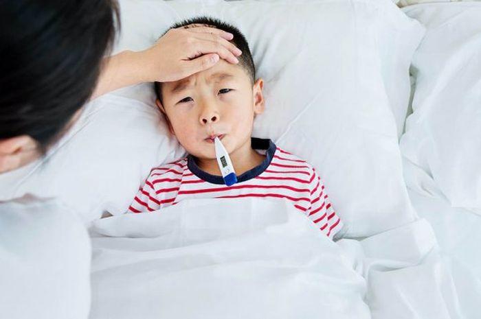 Jangan panik ketika mengatasi anak yang sedang demam ketika malam hari, beri dia banyak minum supaya tidak dehidrasi.