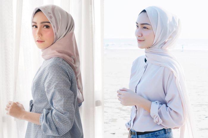 Contek gaya fashion hijab kekinian ala Melody Prima, cocok buat hijabers!