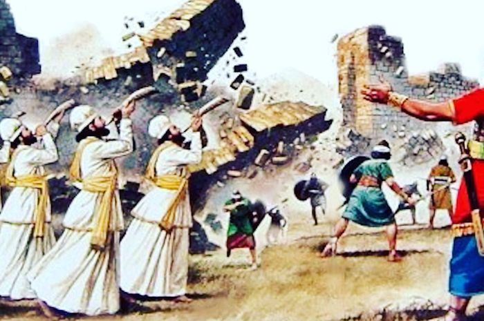 Ilustrasi penaklukkan kota Yerikho