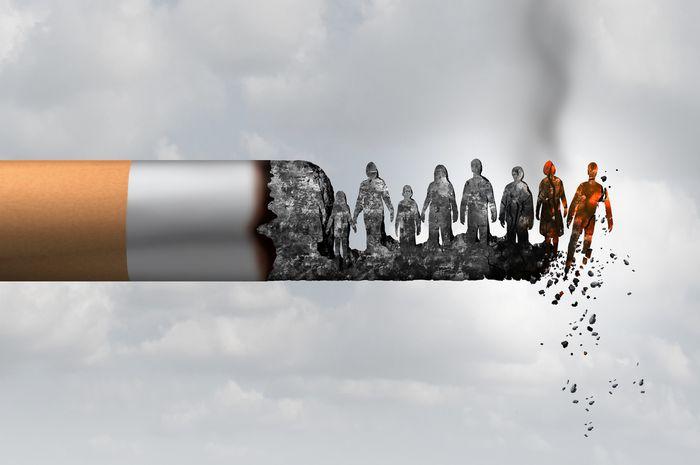 Ilustrasi dampak rokok bagi orang lain.