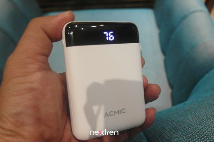 Powerbank ACMIC 10000mAh warna putih