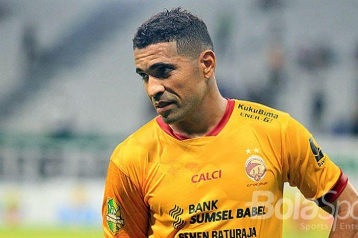 Alberto Goncalves saat masih membela Sriwijaya FC di Liga 1 musim 2018.