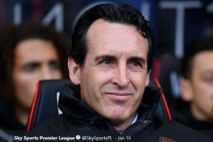 Pelatih Arsenal, Unai Emery.