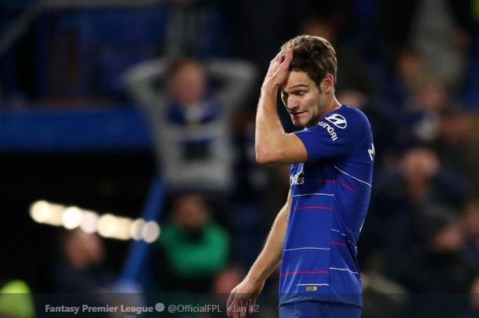 Bek kiri Chelsea, Marcos Alonso, yakin timnya bisa bangkit setelah takluk dari Arsenal dalam laga pe