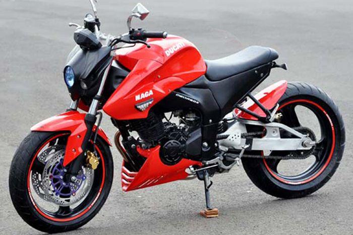 Ini Yamaha Byson yang digarap biar mirip Ducati