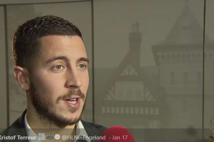 Penyerang sayap Chelsea, Eden Hazard.