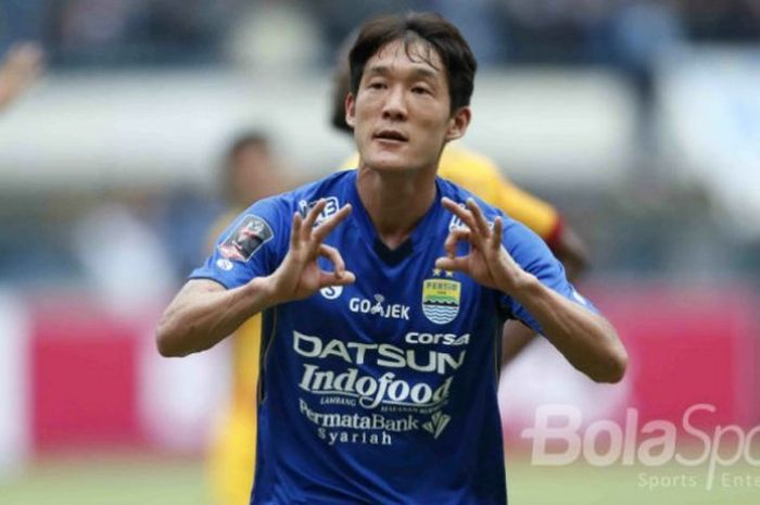 Oh In-kyun saat berseragam Persib Bandung
