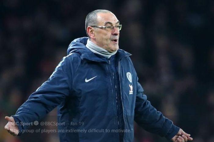 Pelatih Chelsea,  Maurizio Sarri merasa tekanan dari Fans Napoli jauh lebih besar daripada saat di Chelsea