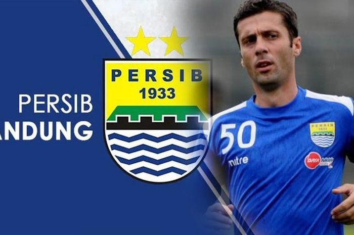 Miljan Radovic ketika masih membela Persib Bandung