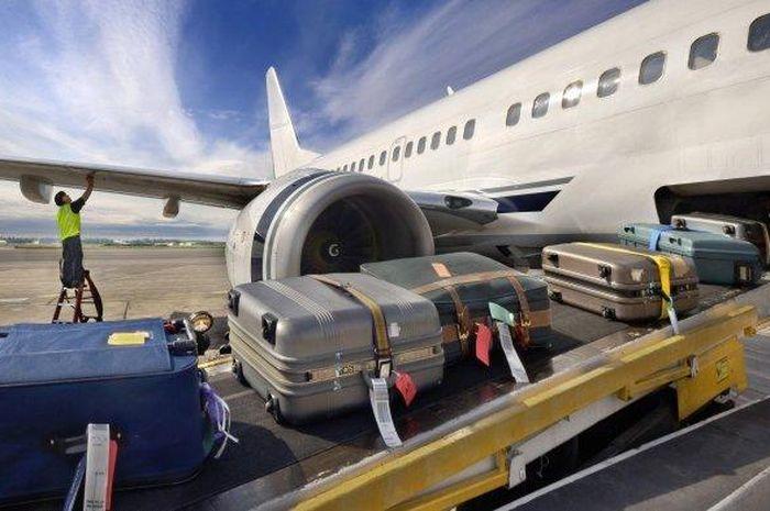 Ilustrasi bagasi pesawat.