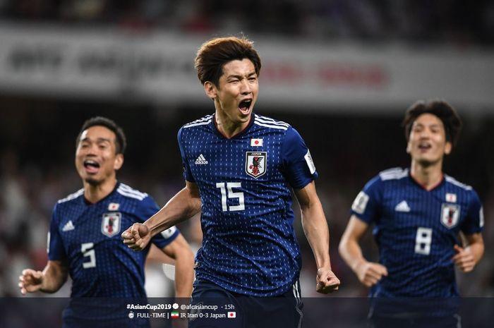 Timnas Jepang lolos ke final Piala Asia 2019 setelah mengalahkan Iran 3-0 di semifinal.