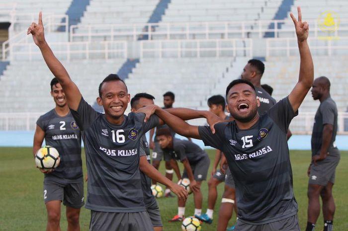 Winger asal Indonesia, Saddil Ramdani (15) dalam sesi latihan Pahang FA di Stadion Darul Makmur, 3o Januari 2019.