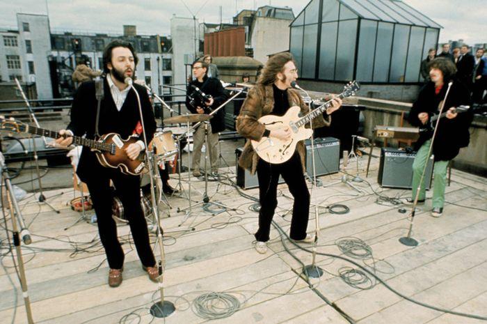 Rooftop concert The Beatles