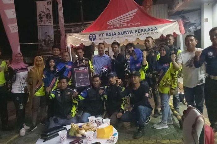 Rider HPCI Chapter Bangka saat berada di Nol Kilometer di Sabang Banda Aceh.