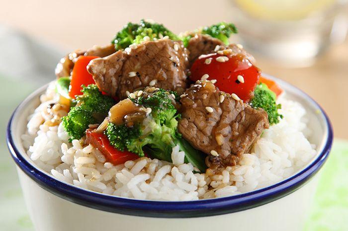 Resep Membuat Nasi Siram Daging Brokoli