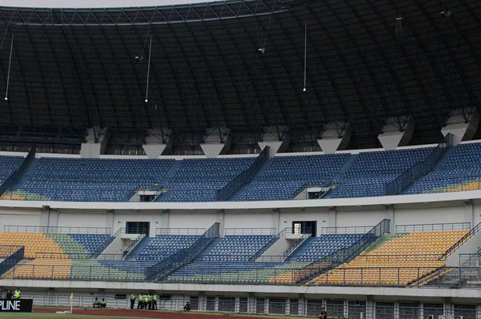 Kondisi markas Persib Bandung di Stadion Gelora Bandung Lautan Api (GBLA), Bandung.