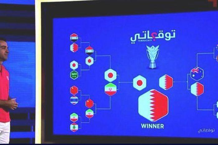 Eks pemain Barcelona, Xavi Hernandez, diminta untuk memberikan prediksi siapa yang akan menjadi juara di Piala Asia 2019 oleh stasiun tv Qatar pada awal tahun.