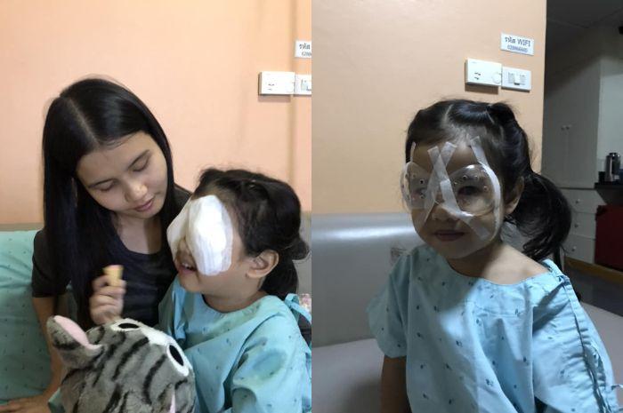 Bocah berusia empat tahun dari Thailand merasakan dampak buruk dari terlalu lama bermain gadget.