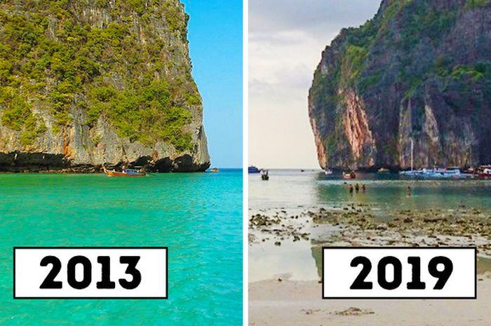 7 objek wisata populer yang rusak karena manusia.